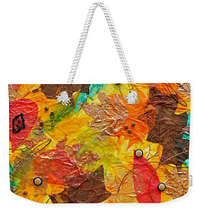 Autumn Leaves Underfoot Weekender Tote Bag