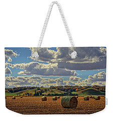 Autumn Valley Bales Weekender Tote Bag