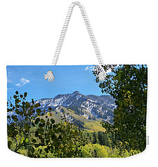 Autumn View Through Aspen Leaves Weekender Tote Bag