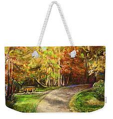 Autumn Walk Weekender Tote Bag
