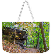 Weekender Tote Bag featuring the photograph Autumn Walk In Fairmount Park -  Licoln Drive by Bill Cannon