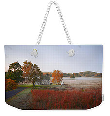 Weekender Tote Bag featuring the photograph Autumn Walk In Valley Forge by Bill Cannon