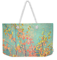 Weekender Tote Bag featuring the photograph Autumn Wall by Ari Salmela
