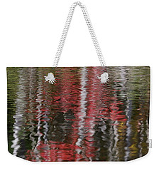 Weekender Tote Bag featuring the photograph Autumn Water Color by Susan Capuano