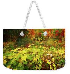 Autumn Watercolor Weekender Tote Bag