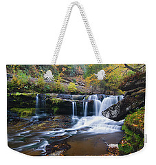 Weekender Tote Bag featuring the photograph Autumn Waterfall by Steve Stuller