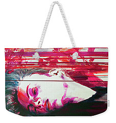 Weekender Tote Bag featuring the painting Autumn's Waiting  by Rene Capone