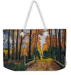Autumn Way Weekender Tote Bag by Ron Richard Baviello
