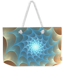 Weekender Tote Bag featuring the digital art Autumn Web by Anastasiya Malakhova