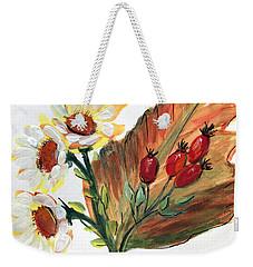 Autumn Wild Flowers Bouquet Weekender Tote Bag
