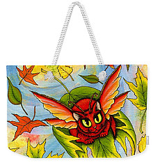 Autumn Winds Fairy Cat Weekender Tote Bag