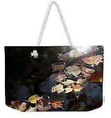 Autumn With Leaves On Water Weekender Tote Bag