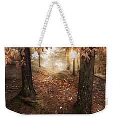 Weekender Tote Bag featuring the photograph Autumn Woodland by Robin-Lee Vieira