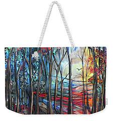 Autumn Woods Sunrise Weekender Tote Bag