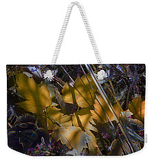 Weekender Tote Bag featuring the digital art Autumn Yellow by Stuart Turnbull