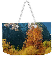 Weekender Tote Bag featuring the photograph Autumnal Gift by Geoff Smith