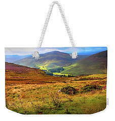 Weekender Tote Bag featuring the photograph Autumnal Hills. Wicklow. Ireland by Jenny Rainbow