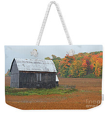 Weekender Tote Bag featuring the photograph Autumnal.. by Nina Stavlund