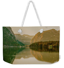 Weekender Tote Bag featuring the photograph Autumnal Reflections  by Geoff Smith
