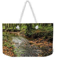 Autumnal Stream Weekender Tote Bag