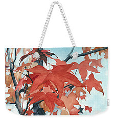 Weekender Tote Bag featuring the painting Autumn's Artistry by Barbara Jewell