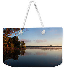 Weekender Tote Bag featuring the photograph Autumn's First Dawn by Jeff Severson