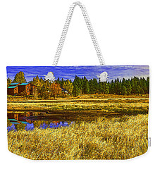 Weekender Tote Bag featuring the photograph Autumn's Glory by Nancy Marie Ricketts