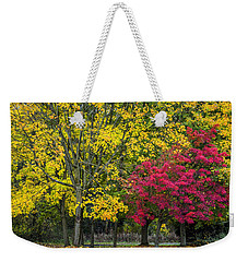 Autumn's Peak Weekender Tote Bag
