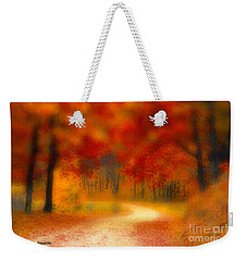 Weekender Tote Bag featuring the painting Autumn's Promise by Chris Armytage