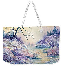 Autumnscape In Purple Weekender Tote Bag