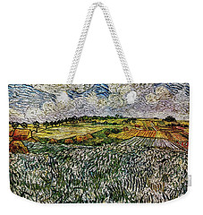 Weekender Tote Bag featuring the painting Landscape Auvers28 by Pemaro