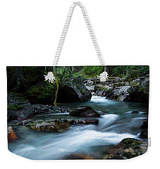 Avalanche Creek Through The Forest Weekender Tote Bag