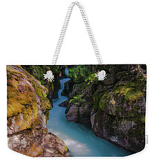 Weekender Tote Bag featuring the photograph Avalanche Gorge 5 by Gary Lengyel