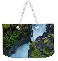 Weekender Tote Bag featuring the photograph Avalanche Gorge 6 by Gary Lengyel