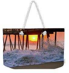 Avalon Fishing Pier Sunrise Weekender Tote Bag