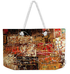 Weekender Tote Bag featuring the painting Avant Garde by Carmen Guedez