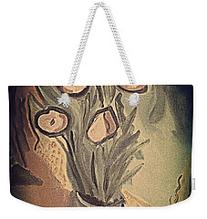 Weekender Tote Bag featuring the painting Avec Fleures 2 by Bill OConnor