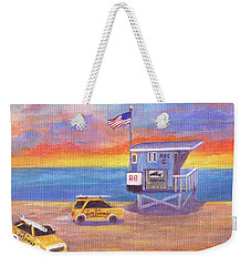 Weekender Tote Bag featuring the painting Avenue C by Jamie Frier