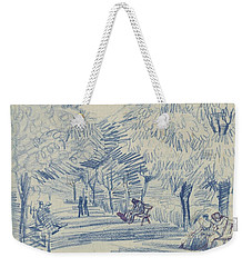Weekender Tote Bag featuring the painting Avenue In A Park Arles, May 1888 Vincent Van Gogh 1853 - 1890 by Artistic Panda