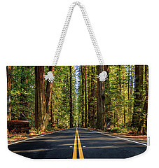 Weekender Tote Bag featuring the photograph Avenue Of The Giants by James Eddy