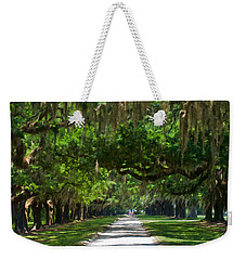 Avenue Of The Oaks At Boonville Plantation Weekender Tote Bag