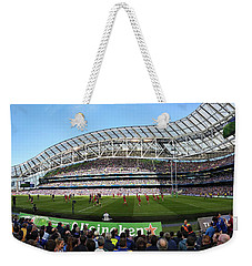 Weekender Tote Bag featuring the photograph Aviva Stadium Panorama - Dublin by Barry O Carroll