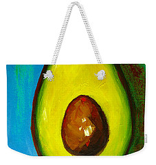Avocado, Modern Art, Kitchen Decor, Blue Green Background Weekender Tote Bag
