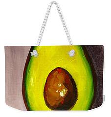 Avocado Modern Art, Kitchen Decor, Grey Background Weekender Tote Bag