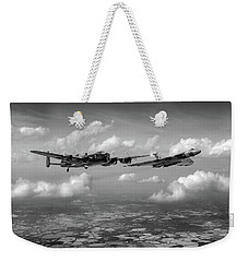 Weekender Tote Bag featuring the photograph Avro Sisters Bw Version by Gary Eason