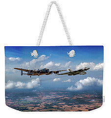 Weekender Tote Bag featuring the photograph Avro Sisters  by Gary Eason