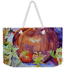Weekender Tote Bag featuring the painting Awaiting by Beverley Harper Tinsley