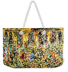 Weekender Tote Bag featuring the painting Awaiting The Sun by Alfred Motzer