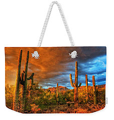 Awaitng The Monsoon Weekender Tote Bag