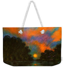 Weekender Tote Bag featuring the painting Awaken The Dream by Alison Caltrider